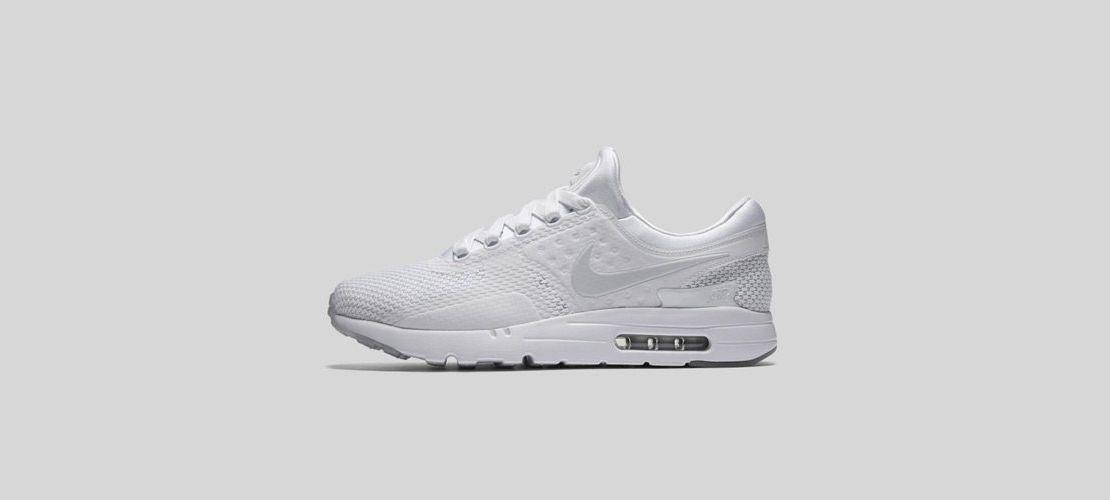 Nike Air Max Zero All White 1110x500