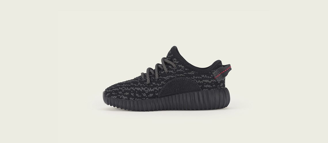 adidas Yeezy Boost 350 Infant Black Pirate