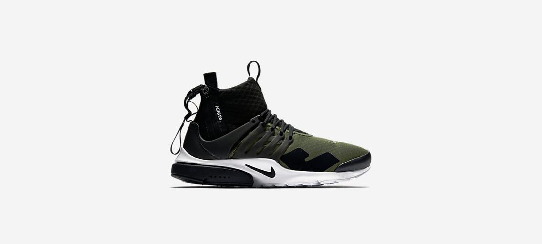 ACRONYM x NikeLab Air Presto Mid Black Olive 1110x500