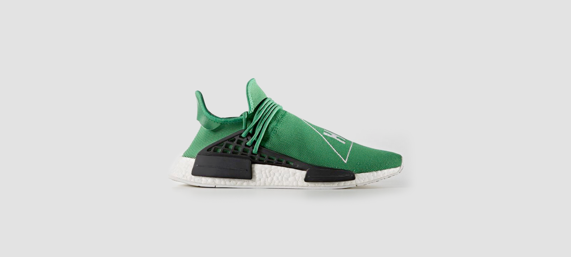 adidas x Pharrell Williams HU NMD Green 1110x500