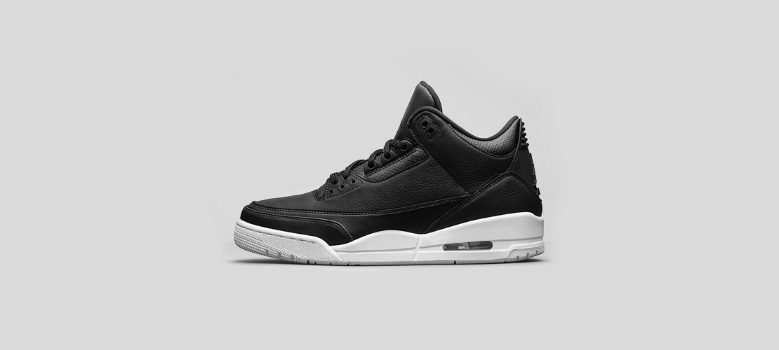 Air Jordan 3 Black White 1110x500