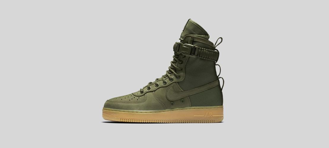 Nike SF Air Force 1 Olive 1110x500