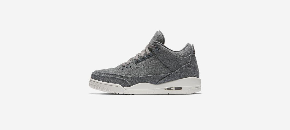 Air Jordan 3 Retro Dark Grey 1110x500