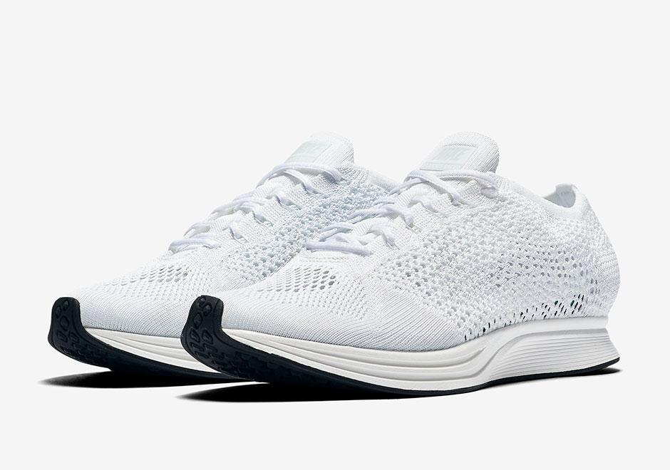 Nike Flyknit Racer All White 1
