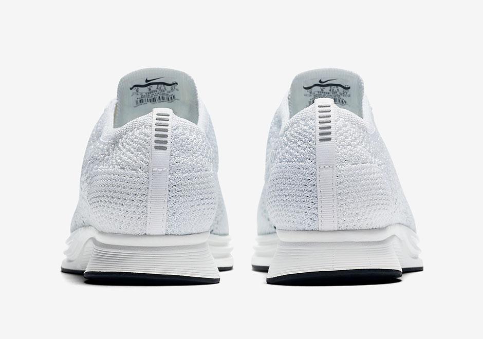 Nike Flyknit Racer All White 3