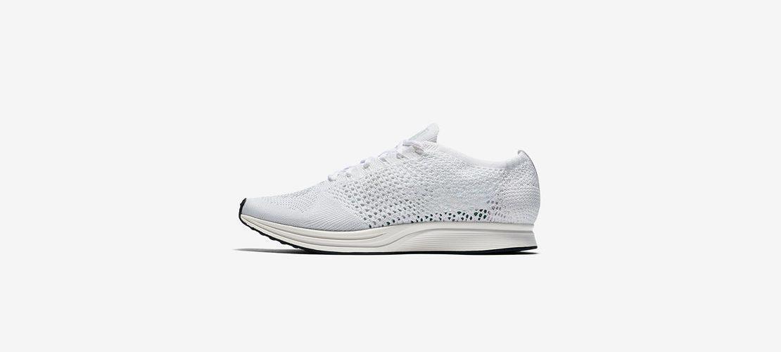 Nike Flyknit Racer All white 1110x500