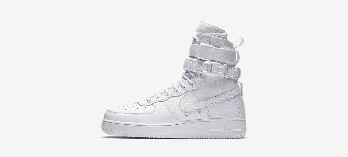Nike SF Air Force 1 Triple White 1110x500