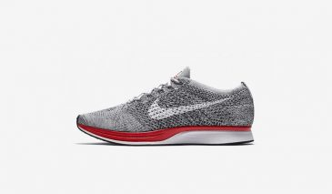Nike Flyknit Racer – Wolf Grey / Red
