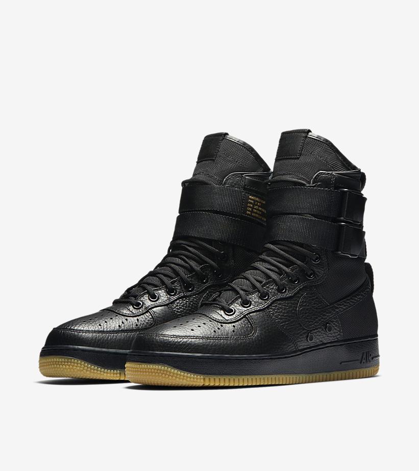 Nike SF Air Force Black Gum 864024 001 2