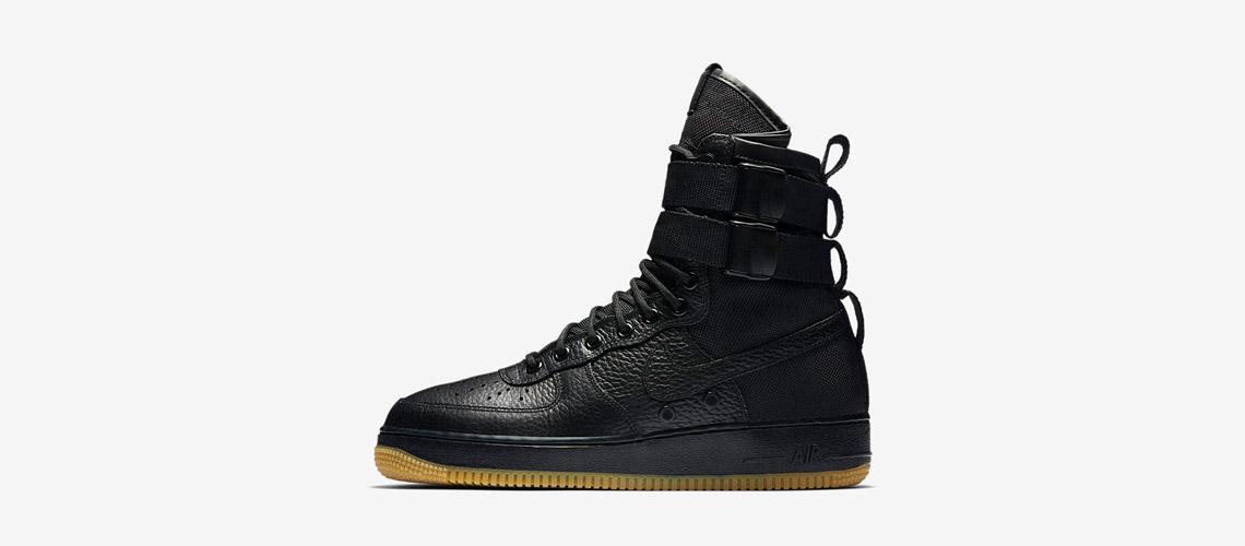 Nike SF Air Force Black Gum 864024 001
