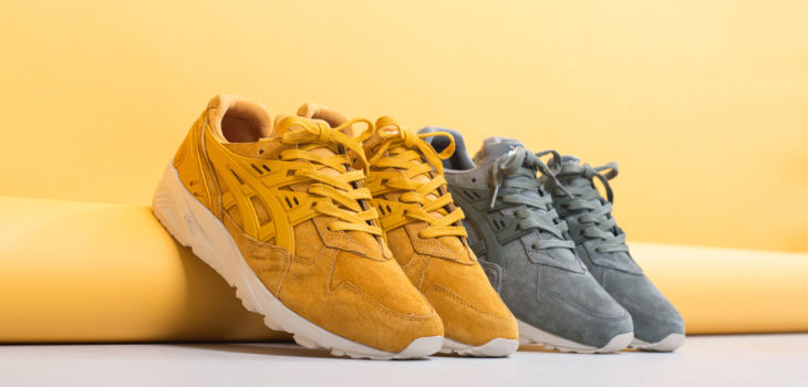 asics Tiger Gel Kayano Trainer Golden Yellow Agave Green 3 730x350