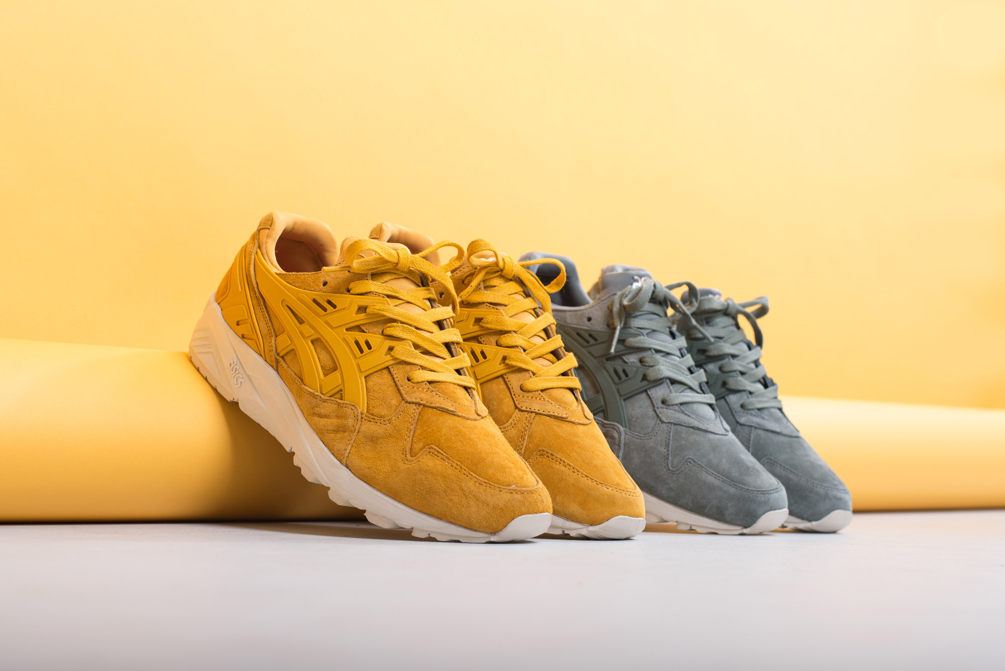 asics Tiger Gel Kayano Trainer Golden Yellow Agave Green 3