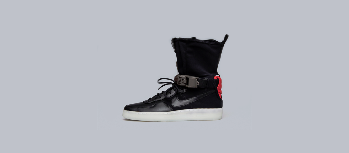 ACRONYM x Nike Air Force 1 Downtown HI Black Red 1