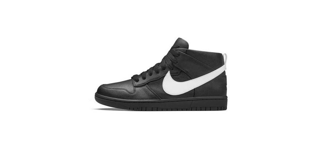 Riccardo Tisci x NikeLab Dunk Lux Chukka Black White 1110x500