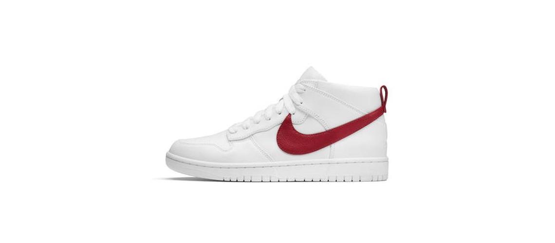 Riccardo Tisci x NikeLab Dunk Lux Chukka White Red