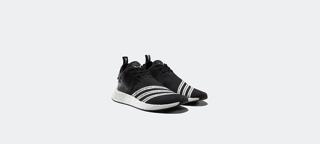 White Mountaineering x adidas NMD R2 Black 1110x500