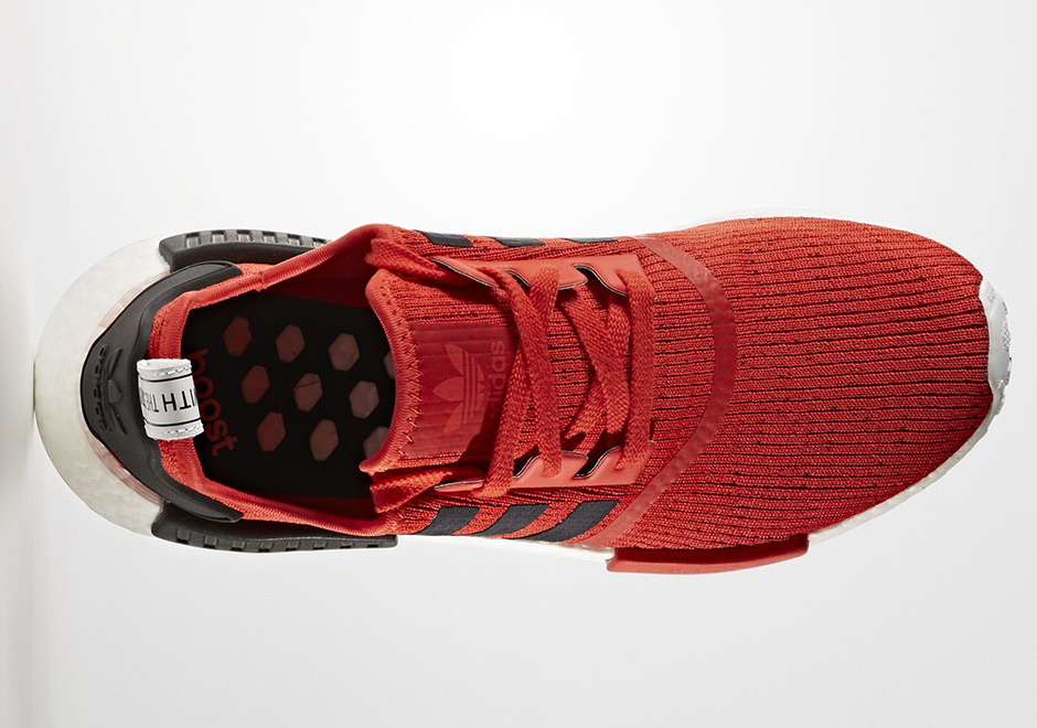 adidas NMD R1 Red Black 3