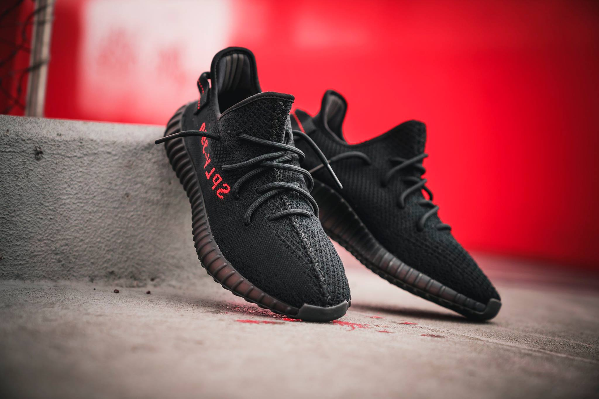 adidas YEEZY BOOST 350 V2 Core Black Red CP9652 4