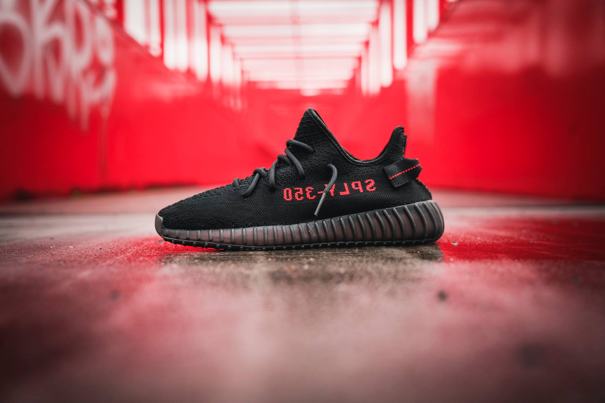 adidas YEEZY BOOST 350 V2 Core Black Red CP9652 6