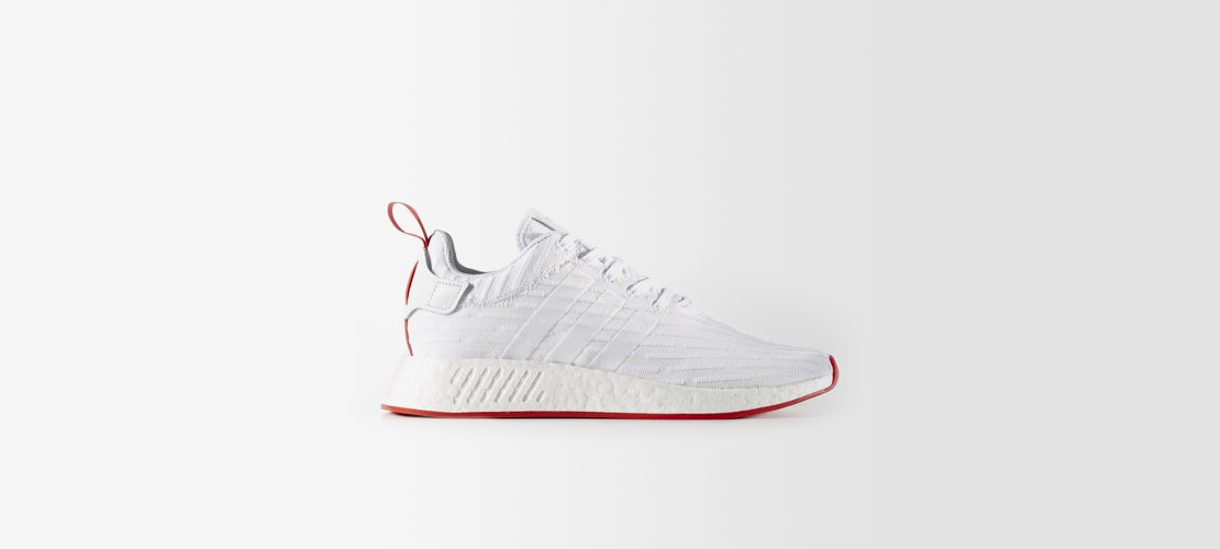 adidas NMD R2 Primeknit White Core Red BA7253 1110x500