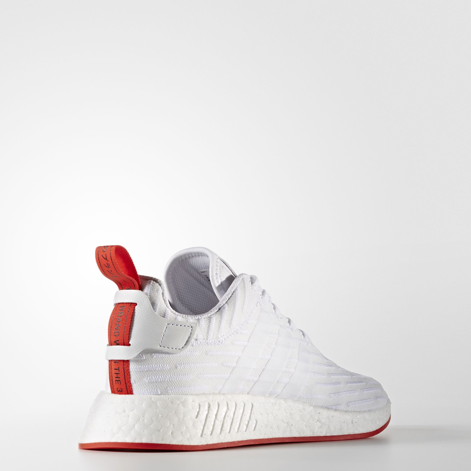 adidas NMD R2 Primeknit White Core Red BA7253 3