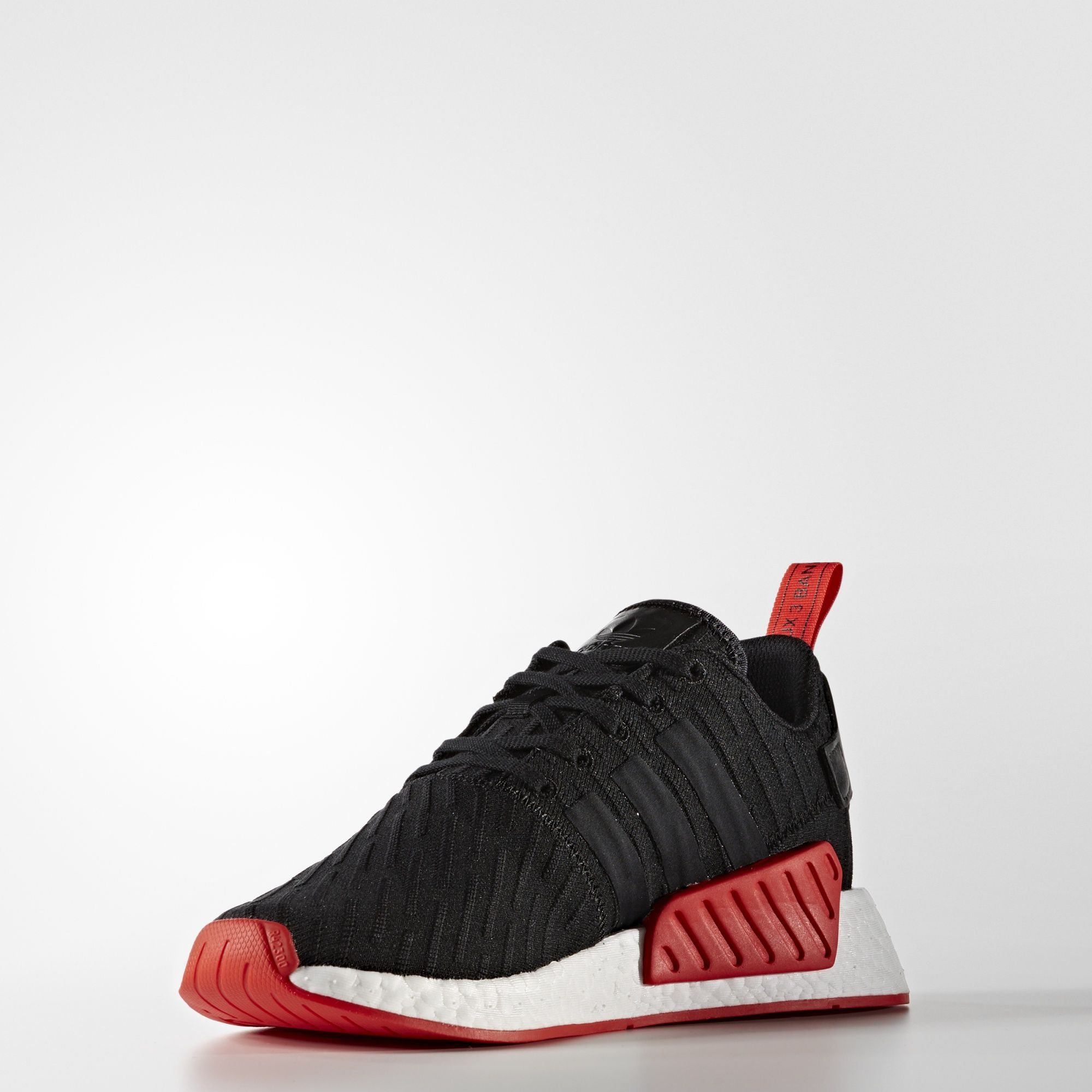 adidas nmd r2 primeknit black core red BA7252 3