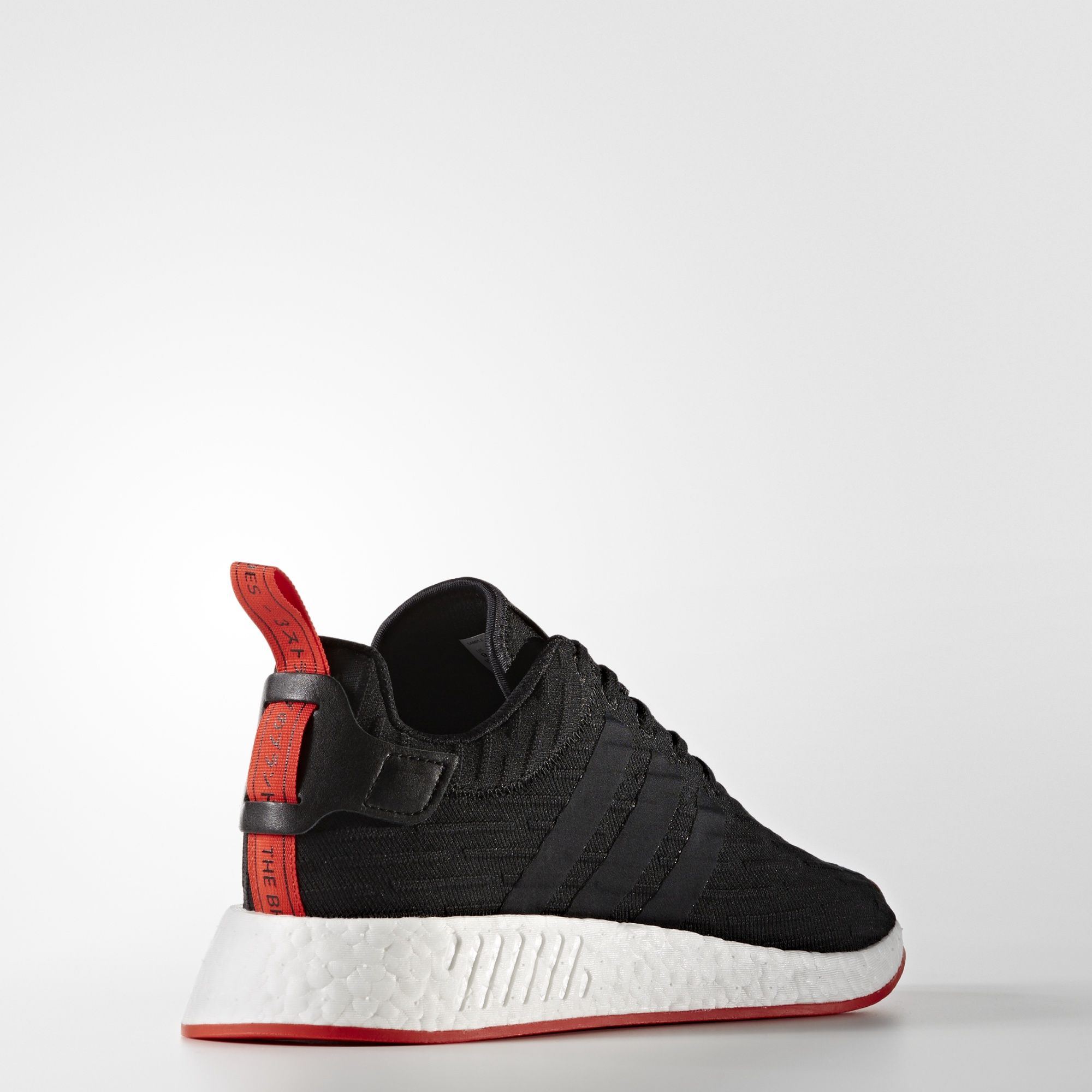 adidas nmd r2 primeknit black core red BA7252 4