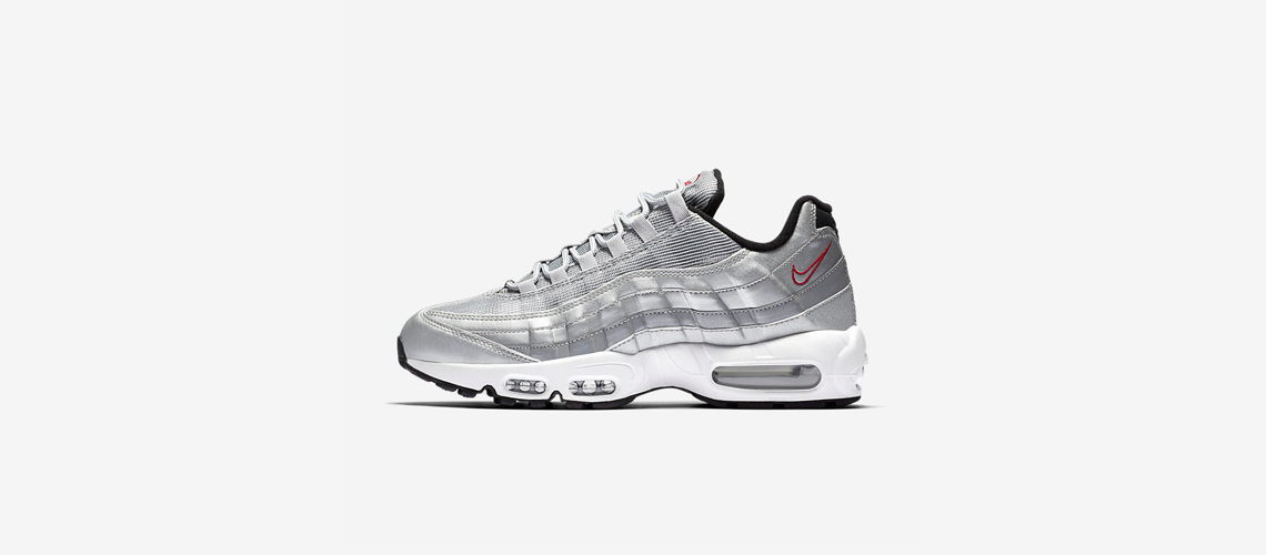 Nike Air Max 95 PRM Metallic Silver 918359 001