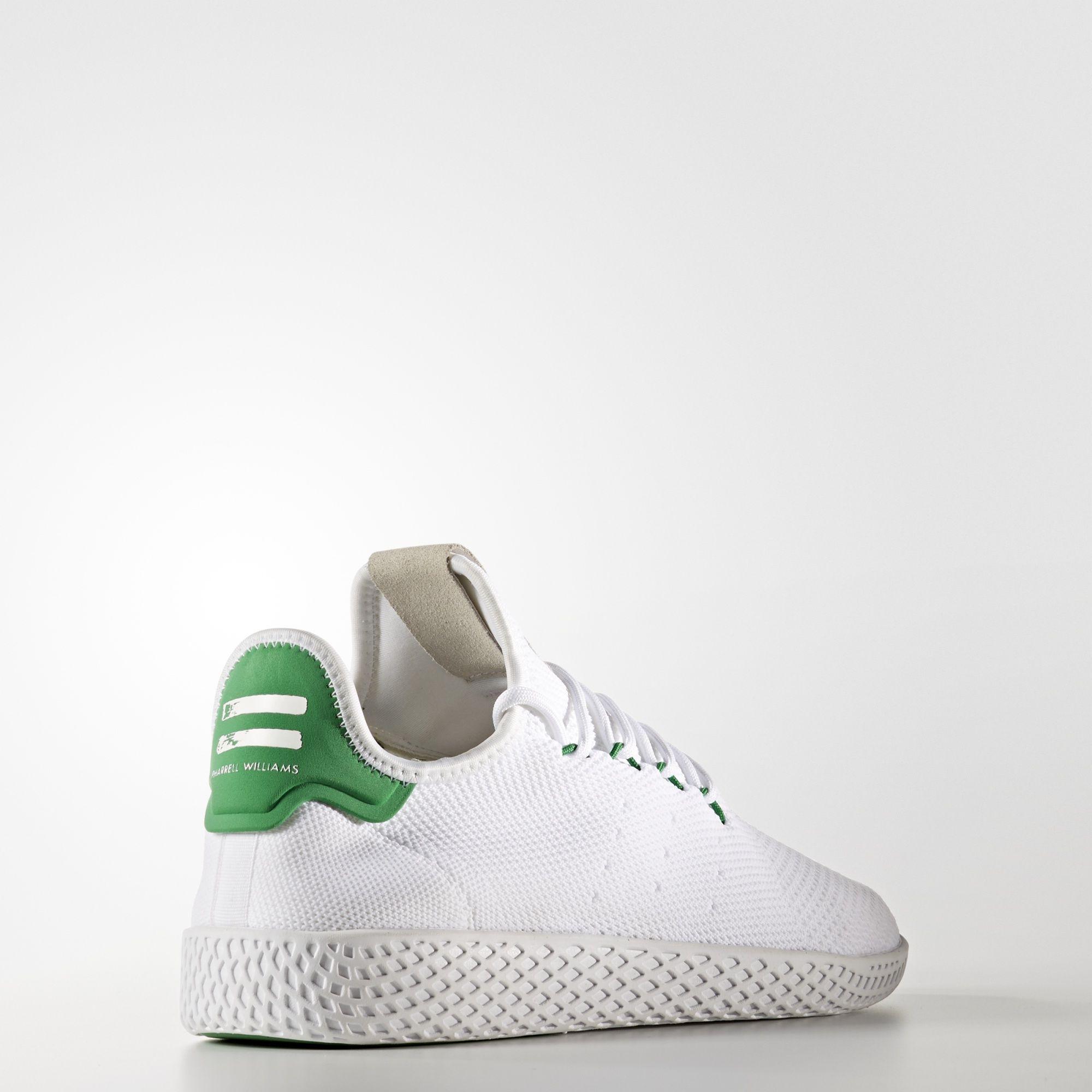 Pharrell Williams x adidas Tennis HU Primeknit Green BA7828 3