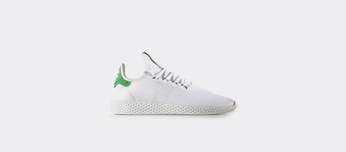 Pharrell Williams x adidas Tennis HU Primeknit Green BA7828