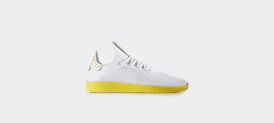 Pharrell Williams x adidas Tennis HU Primeknit Yellow BY2674 1110x500
