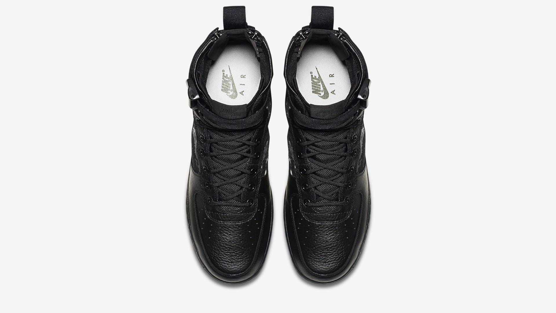 Nike SF Air Force 1 Mid Black Cargo Khaki AA7345 001 1