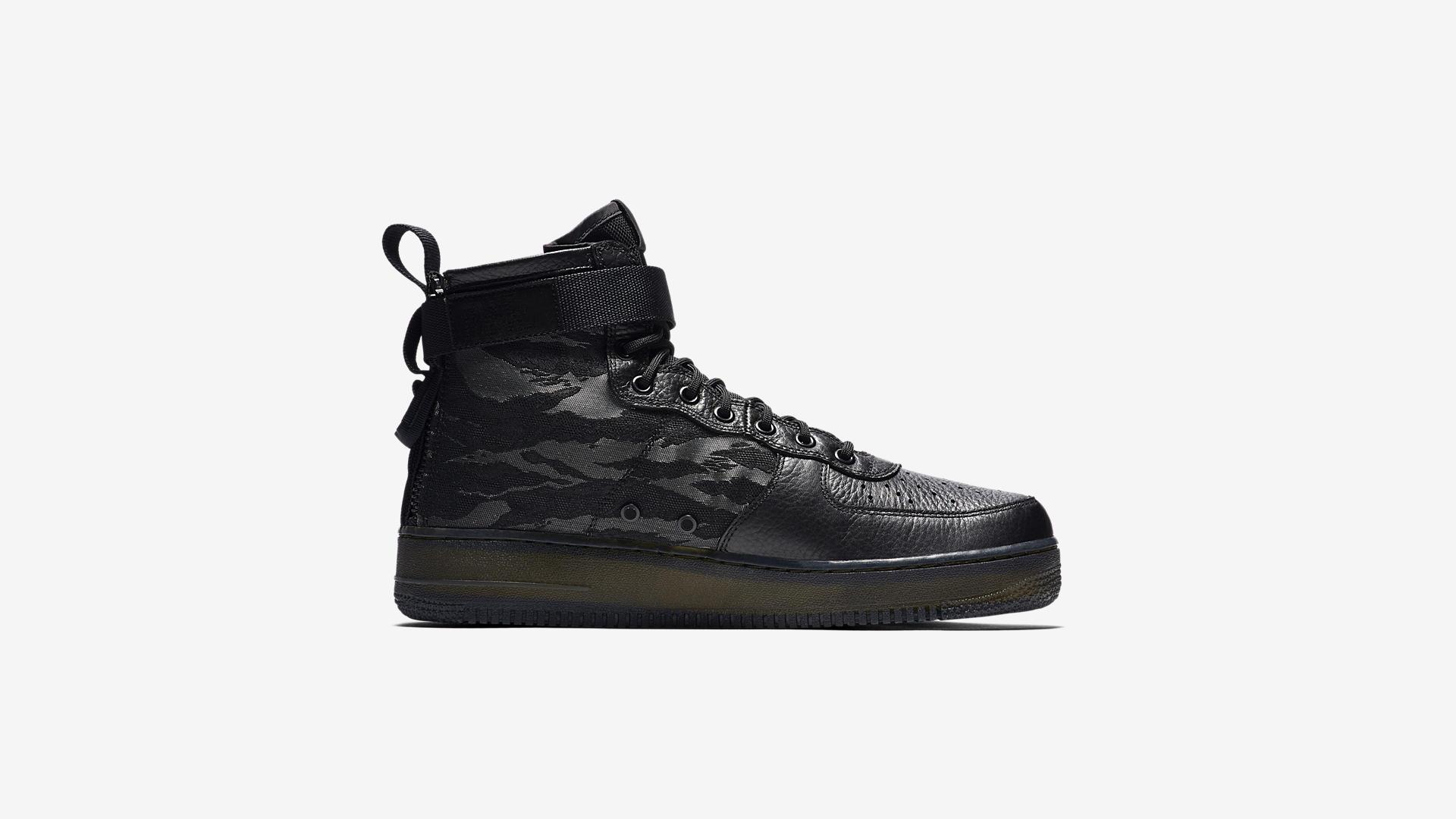 Nike SF Air Force 1 Mid Black Cargo Khaki AA7345 001 2