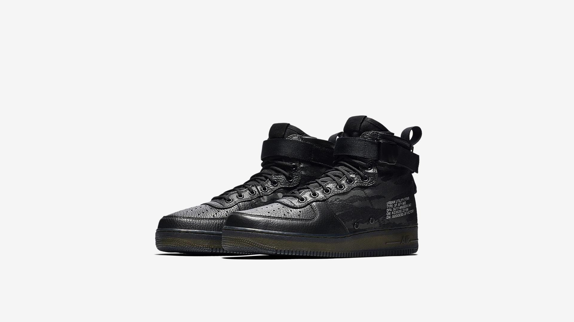Nike SF Air Force 1 Mid Black Cargo Khaki AA7345 001 3