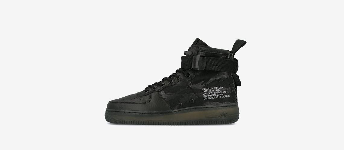 Nike SF Air Force 1 Mid Black Cargo Khaki AA7345 001
