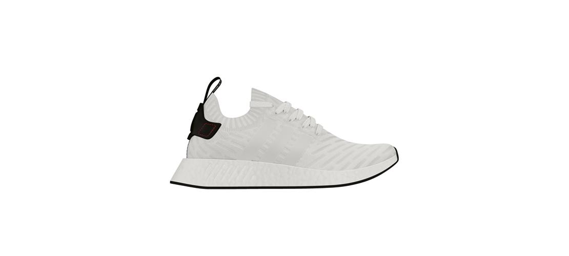 adidas NMD R2 Primeknit White Black BY3015 1110x500