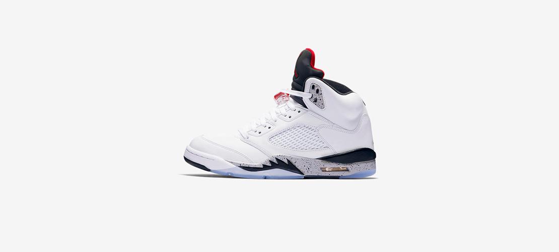136027 104 Air Jordan 5 Retro White Cement 1110x500