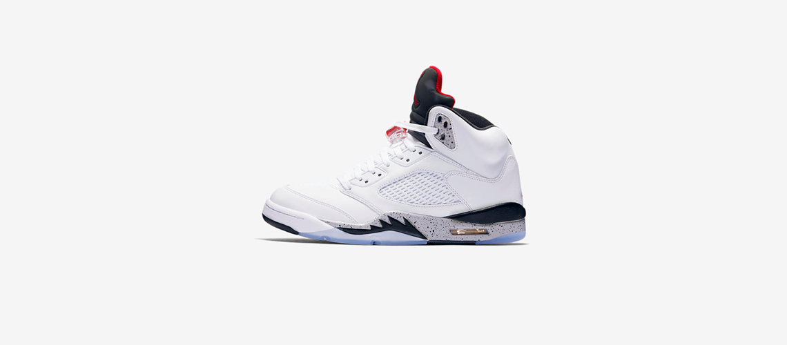 136027 104 Air Jordan 5 Retro White Cement
