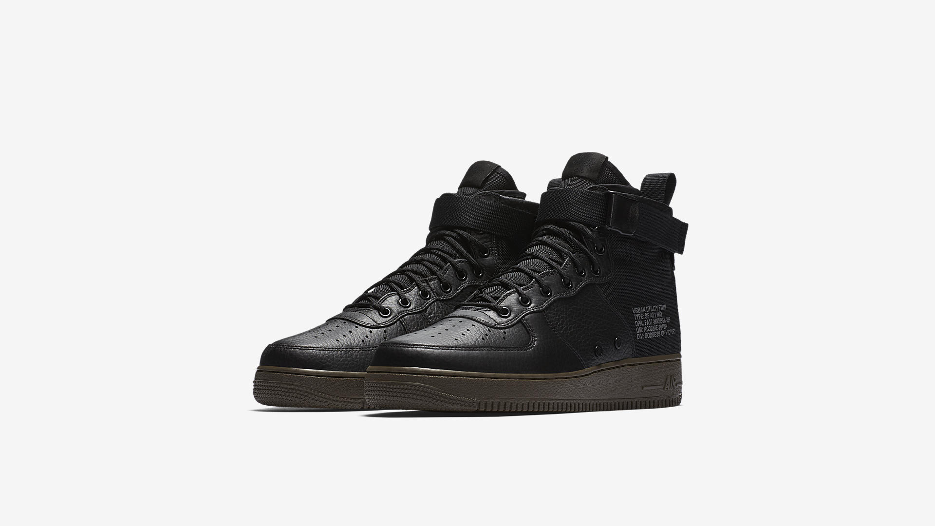 917753 002 Nike SF Air Force 1 Mid Black Dark Hazel 1