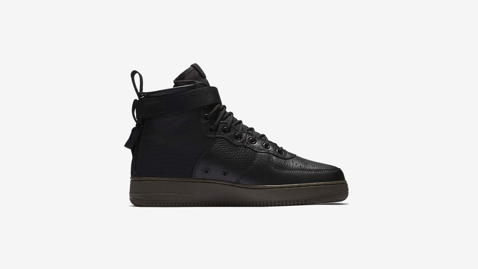 917753 002 Nike SF Air Force 1 Mid Black Dark Hazel 4