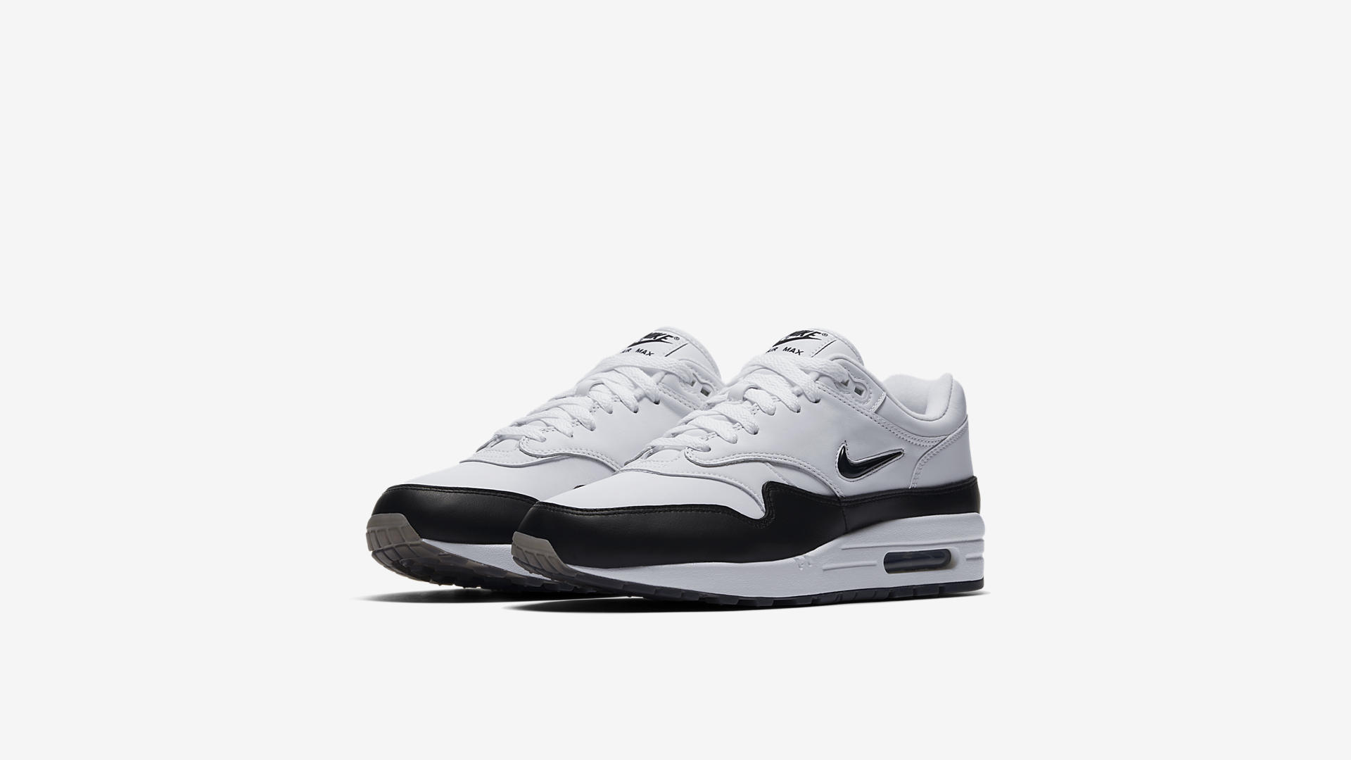 918354 100 Nike Air Max 1 Premium Jewel Black 1