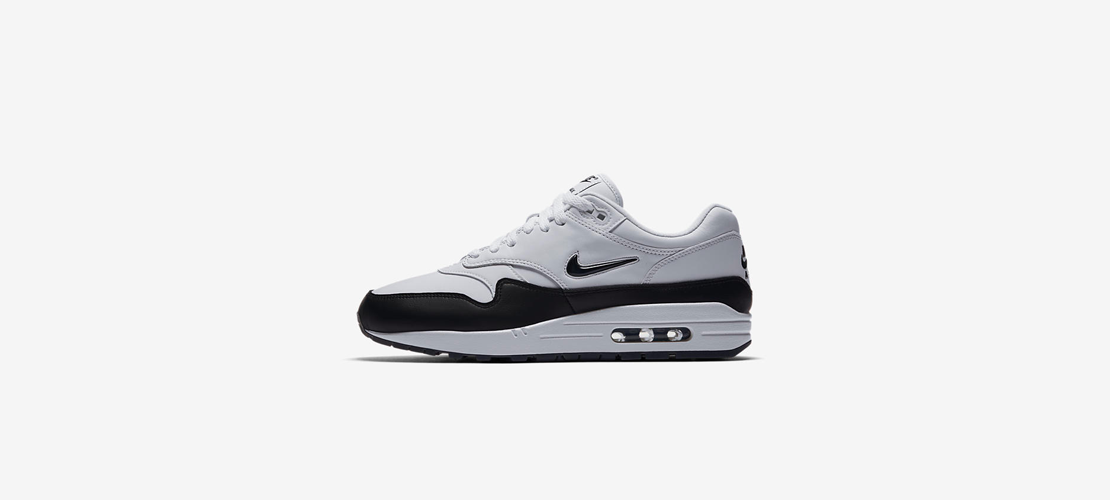 918354 100 Nike Air Max 1 Premium Jewel Black 1110x500