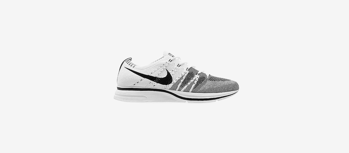 AH8396 100 Nike Flyknit Trainer White Black