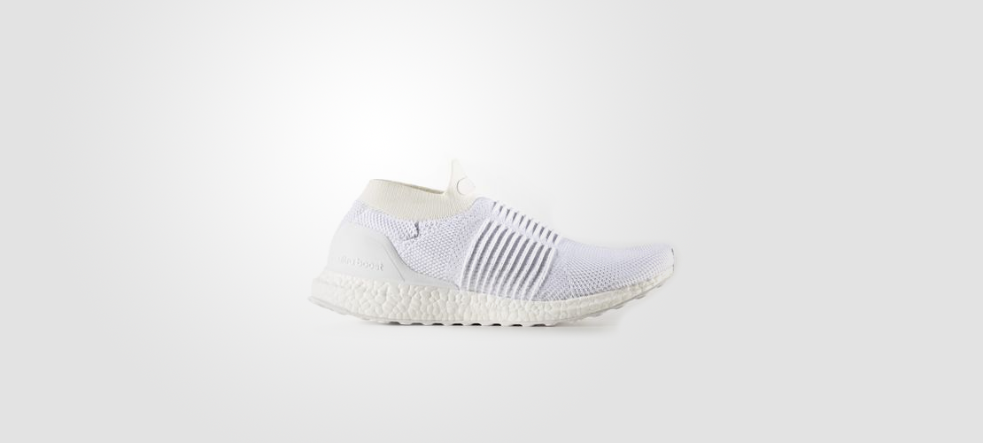 S80768 adidas Ultra Boost Laceless White 1110x500