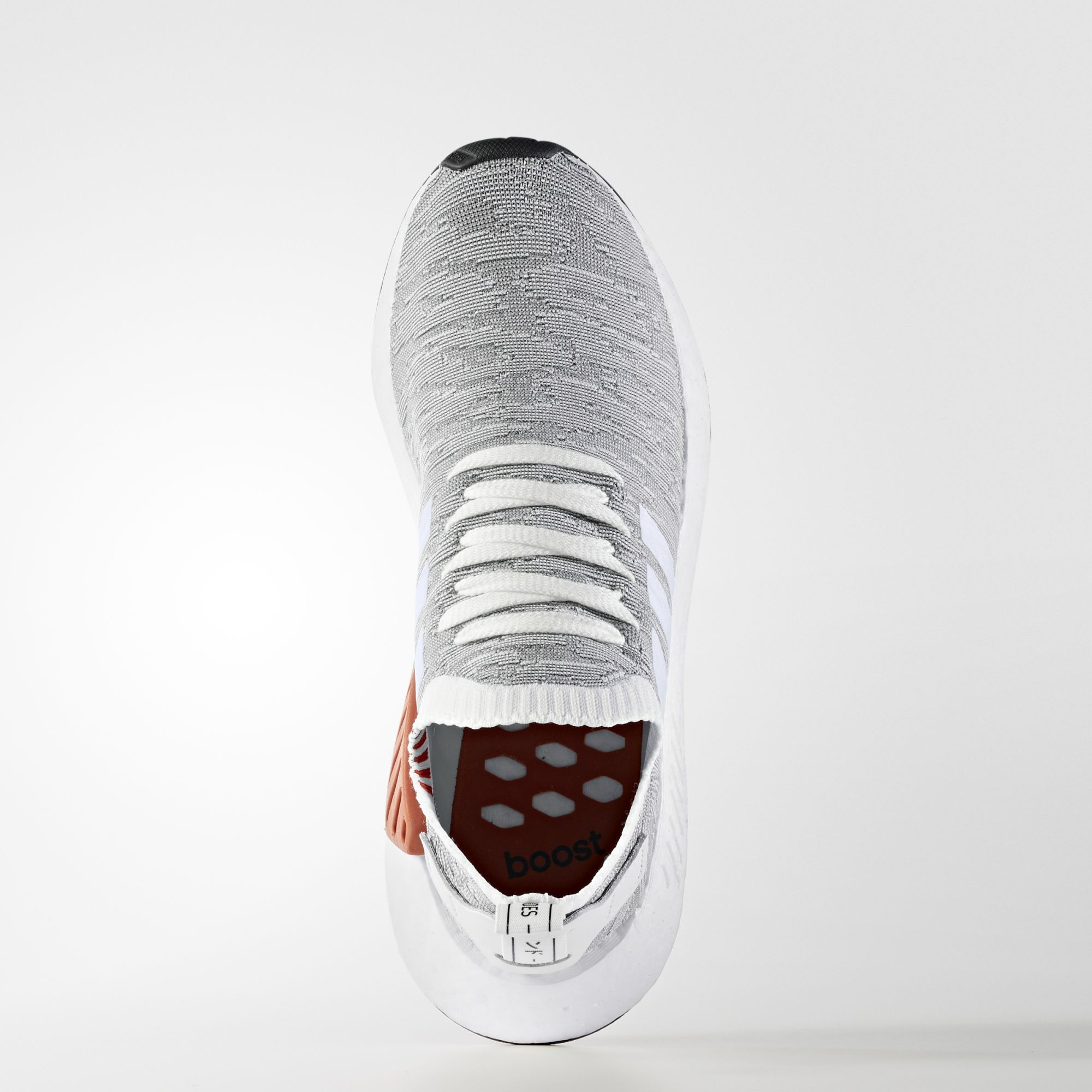 adidas NMD R2 Primeknit White Black BY9410 1