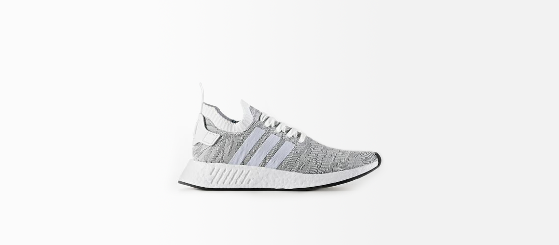 adidas NMD R2 Primeknit White Black BY9410
