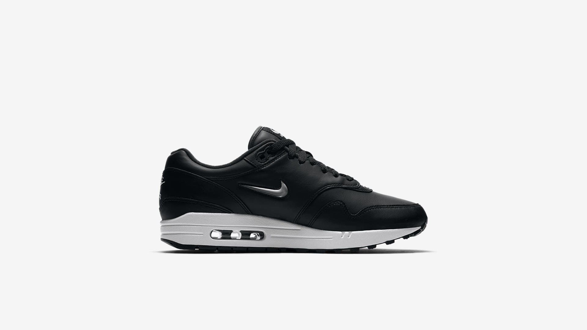 918354 001 Nike Air Max 1 Jewel Black Metal 4