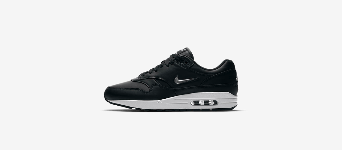 918354 001 Nike Air Max 1 Jewel Black Metal