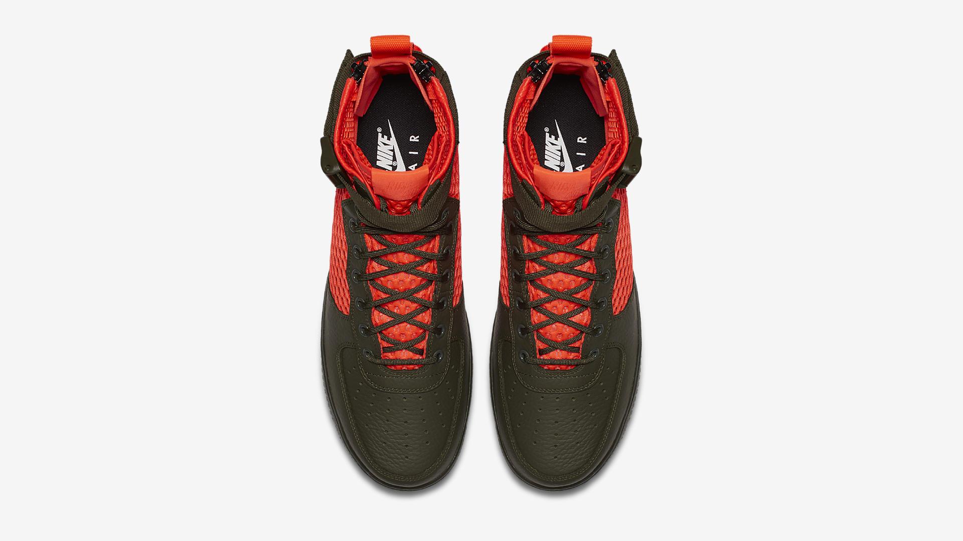 AA7345 300 Nike SF Air Force 1 Mid Cargo Khaki Total Crimson 3