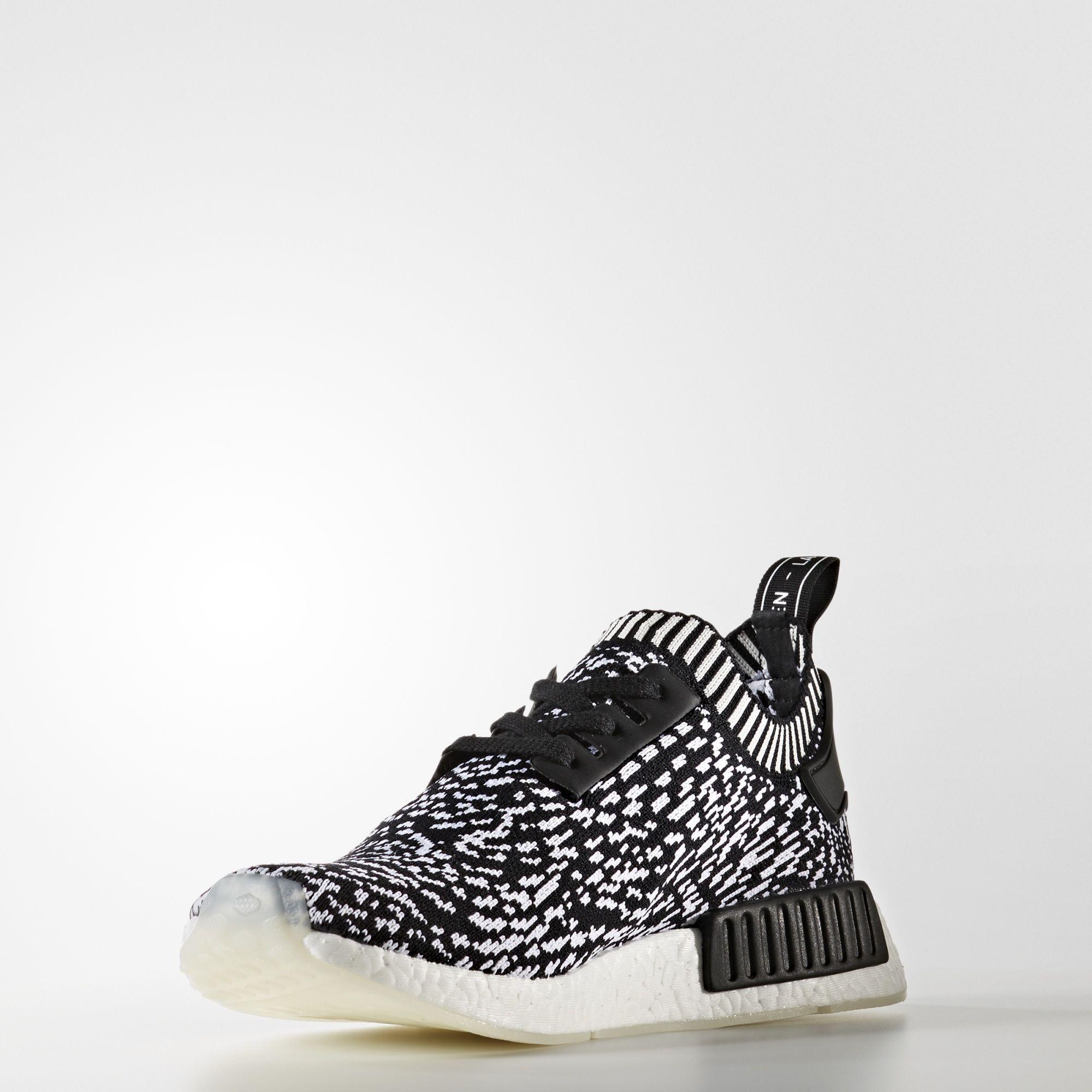 BY3013 adidas NMD R1 Primeknit Black White 2